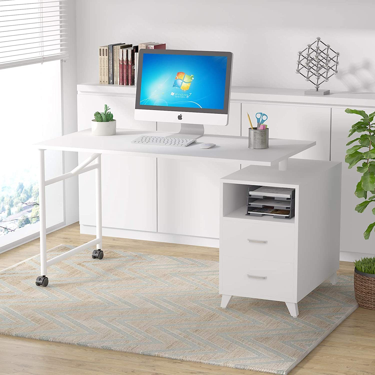 Tribesigns Max 47% OFF 360° Rotating Max 76% OFF Office w Reversible Computer Desk