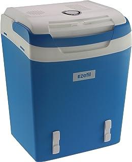 Ezetil Nevera portátil termoeléctrica, 12 V y 230 V para Coche, camión, Barco, Enchufe, Color Azul y Blanco