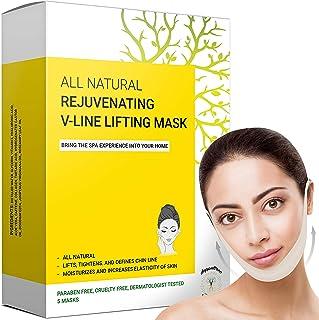 Dubbele kinverkleiner en -verwijderaar, V Line Lifting Face Mask, Double Chin Reducer & Remover - Liftt, trekt kaaklijn en...