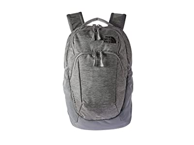 The North Face Pivoter Backpack (Mid Grey Dark Heather/TNF Black) Backpack Bags