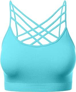 Women's Novelty Bras Seamless Triple Criss-Cross Front Bralette Sports Bra