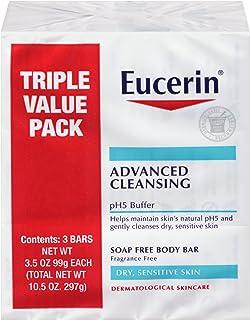 Eucerin 高級潔面無皂身體皂,3件裝