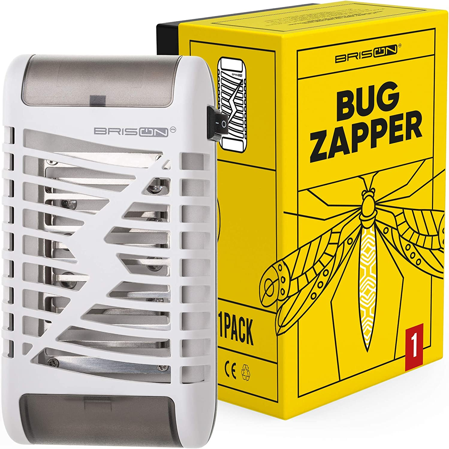 BRISON Bug Zapper for Home - Electric Fly Trap Indoor Plug in - Mosquito Fly Insects Killer with 8 Lights