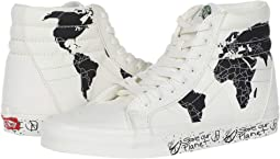 (Save Our Planet SK8-Hi) Classic White/Black