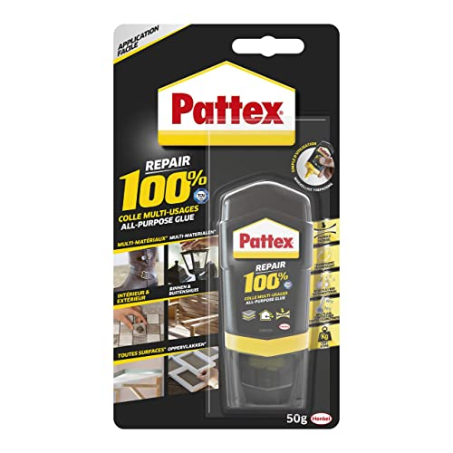 Pattex Repair 100%, Colle Multi-Usages 100% 50gr, Transparente