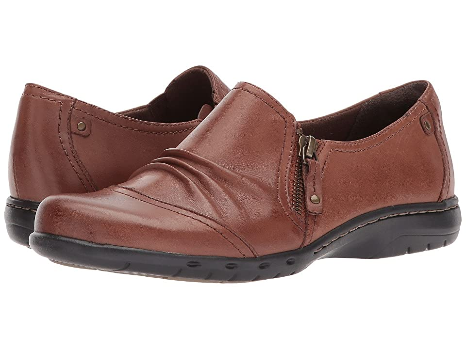 Rockport Cobb Hill Collection Cobb Hill Penfield Zip Shoe (Almond Leather) Women