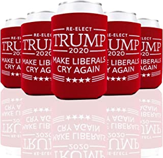 Make Liberals Cry Again Donald Trump 2020 Can Cooler Birthday Decoration Party Favor Christmas Gift for Men and Women 6 Pack