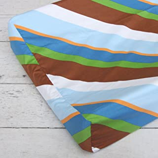 Caden Lane Diagonal Stripe Changing Pad Cover, Brown