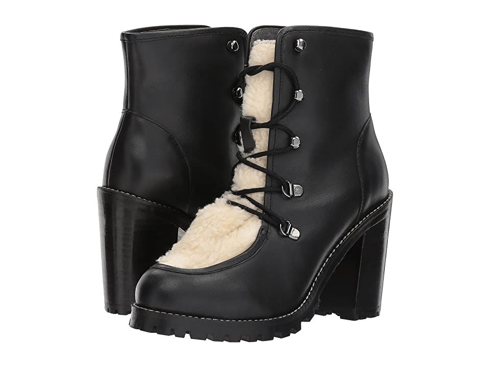 Seychelles Theater (Black Leather/Shearling) Women