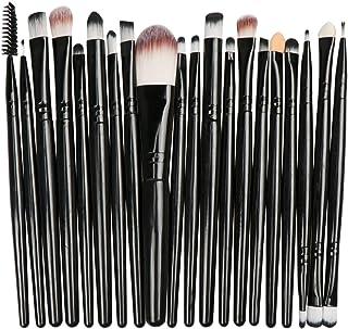 Makeup Brush Set, 20Pcs Professional Makeup Tools Premium Synthetic Foundation Powder Blush Shadow Brushes Concealers Eye Cosmetics Make Up Brushes Kit (Black-2)
