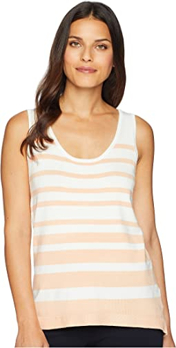 Sleeveless High-Low Stripe Tank