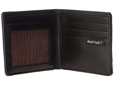 negro cuero sintético Crosshatch Herschel Eclipse Co Hank Supply RFID ZqwT48