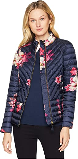 Elodie Printed Chevron Quilted Jacket