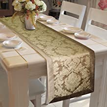 Lushomes Natural Jacquard Runner with Polyester Border
