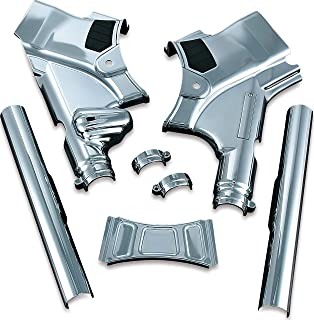 Kuryakyn 7832 Motorcycle Accent Accessory: Deluxe Neck Cover for 2009-13 Harley-Davidson Touring Motorcycles,  Chrome,  1 Pair