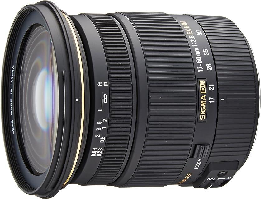 Sigma - Objetivo 17-50 mm f/28 EX DC OS HSM (Rosca para Filtro de 77 mm) para cámaras Digitales SLR de Canon con sensores APS-C Color Negro