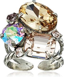 Sorrelli Mirage Emerald Cluster 戒指,尺寸 7-9