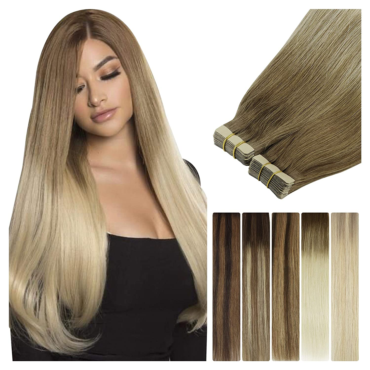 LeaLea 20pcs 50g Ranking TOP11 Human Hair Tape Extensions Brow Our shop OFFers the best service in Ash Balayage