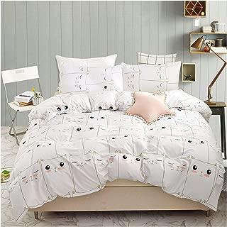 YZZ COLLECTION Queen Bedding Duvet Cover Set, Premium Microfiber,Mini Cats Pattern On Comforter Cover-3pcs:1x Duvet Cover 2X Pillowcases,Comforter Cover with Zipper Closure (Full/Queen)