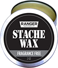 Beard & Mustache Wax by Ranger Grooming Company by Leven Rose All Natural Men's Grooming Wax with Natural Oils for Moustache Grooming and Beard Growth for Men 2 Oz