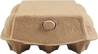 Juno Outfitters - Pulp Egg Cartons, Blank Flat Top Style, Half Dozen - (Set of 25 cartons)