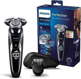Philips 飞利浦S9721 / 41电动干湿两用系列 9000 剃须刀,带V-Track Pro刀片,胡须造型