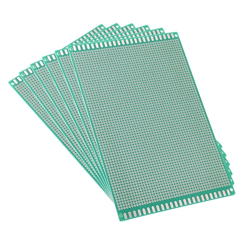 タイピスト虚偽急勾配のuxcell ユニバーサルボード PCBボード 12x18cm 厚さ約1.6mm ガラス繊維板 グリーン 6個入り