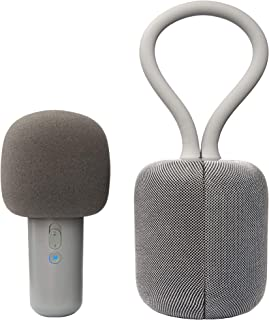 Portable Karaoke Machine for Adults - with Microphone and Hi-Fi Stereo Speakers. Wearable All-in-One Karaoke, Music, Portable PA Bluetooth Speaker System, Professional Use by U-LoveLife (Gray)