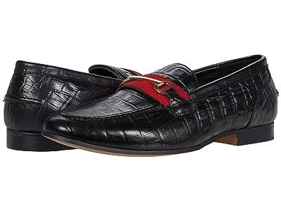 WALK London Glover Trim Loafer (Black Leather) Men