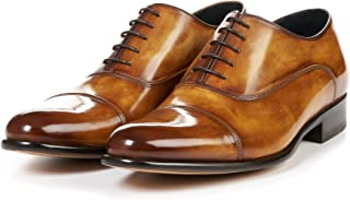 Men's Cagney II Stitched Cap-Toe Oxford Shoes, Italian Calfskin Leather