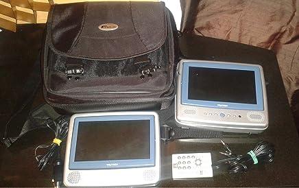 TrueTech 7 inch Dual Screen Portable DVD LCD