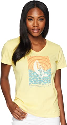 Mosaic Sailboat Crusher Vee Tee