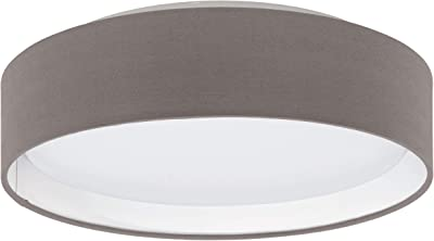 Eglo 31593 Plafonnier Différents Matériaux, Integriert, Argent