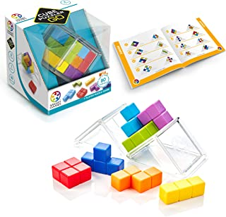 SmartGames Cube Puzzler GO - 3D STEM Game - Brain Teaser for Ages 8 & Up, 80 Challenges in Portable Display Case.