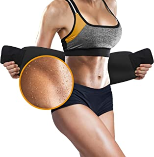 PERFOTEK Waist Trimmer Belt, Slimmer Kit, Sweat Wrap, Stomach Slimmer, Low Back and Lumbar Support with Sauna Suit Effect, Best Abdominal Trainer
