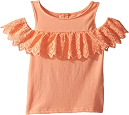 Sleeveless Off Shoulder Ruffle Top (Toddler/Little Kids/Big Kids)