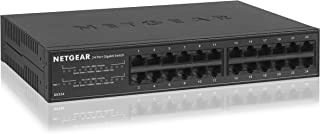 NETGEAR NETGEAR GS316 SOHO 24-Port Gigabit Ethernet Unmanaged Network Switch (GS316-100AUS) Business Use, Grey, GS324-100AUS