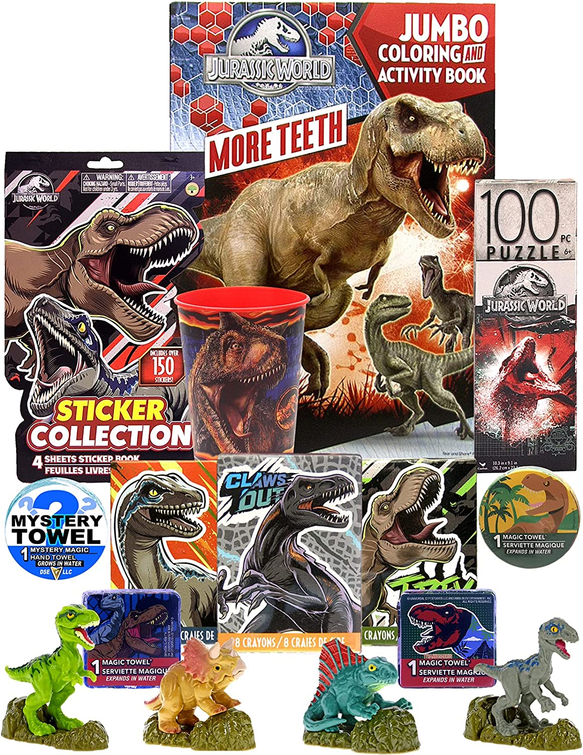 DSE Limited 1 year warranty Edition 13pc Import Jurassic Coloring Activi World Ultimate