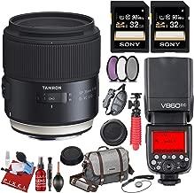 Tamron SP 35mm f/1.8 Di VC USD Lens for Nikon F + Bonus Bundle Items: 64GB Memory Card + Manfrotto Camera Bag + Filters + Godox V860II-N 2.4G TTL Li-on Battery Camera Flash Compatible for Nikon