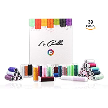 La Canilla ® - 39 Hilos de Coser Bobinas para Coser de Colores ...