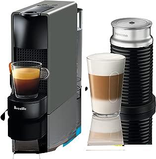 Nespressso BEC250GRY1AUC1 Essenza Mini Coffee Machine with Aeroccino, One Size, Gray