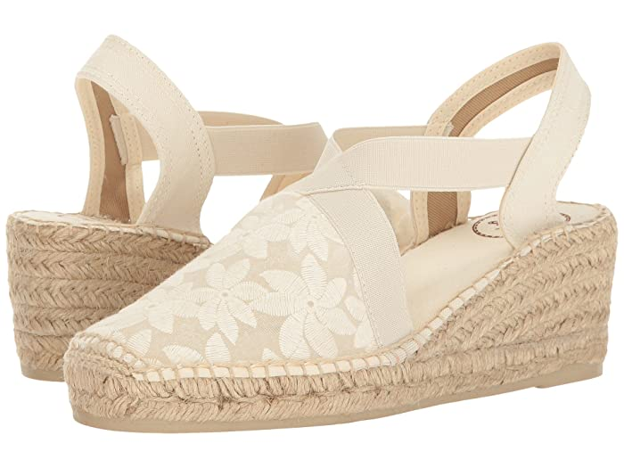 Vintage Sandals | Wedges, Espadrilles – 30s, 40s, 50s, 60s, 70s Toni Pons Terra-F Ecru Florinda Womens  Shoes $87.99 AT vintagedancer.com