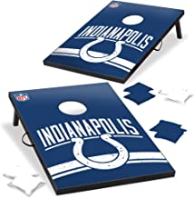 Wild Sports Indianapolis Colts NFL Cornhole Outdoor Game Set, 2' x 3' Foot - Recreational Series, Tailgate Toss
