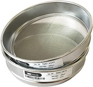 KimLab Economy Test Sieve #40 / 425μm Mesh Size,304 Stainless Steel Wire Cloth, 8