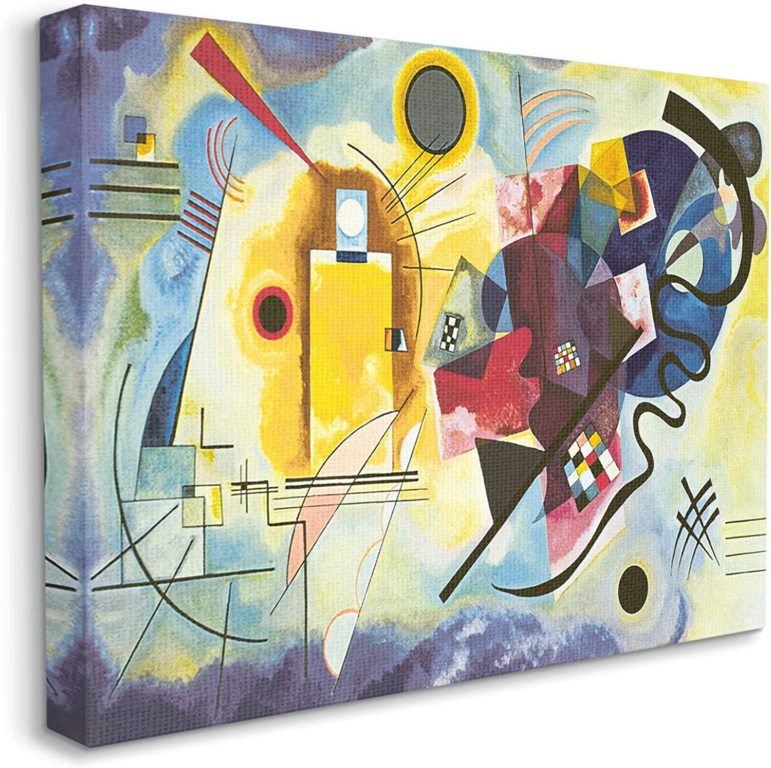 Stupell Industries Classic Abstraction Yellow 特売 新品 送料無料 b Blue Red Design