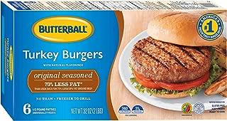 Butterball Seasoned Turkey Burgers, 2 lb (Frozen)