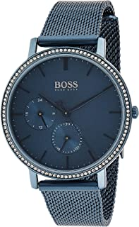 Hugo Boss Womens Quartz Wrist Watch, Analog and Stainless Steel- 1502518