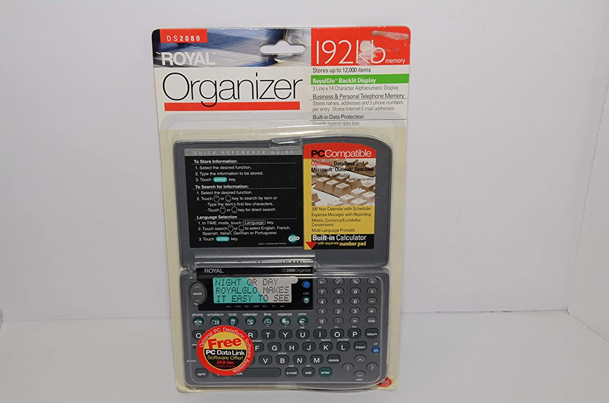 永久下着崖ロイヤルElectronicsロイヤルds2080オーガナイザーPDA携帯型内蔵電卓付きwith seperate番号パッド( PC互換)