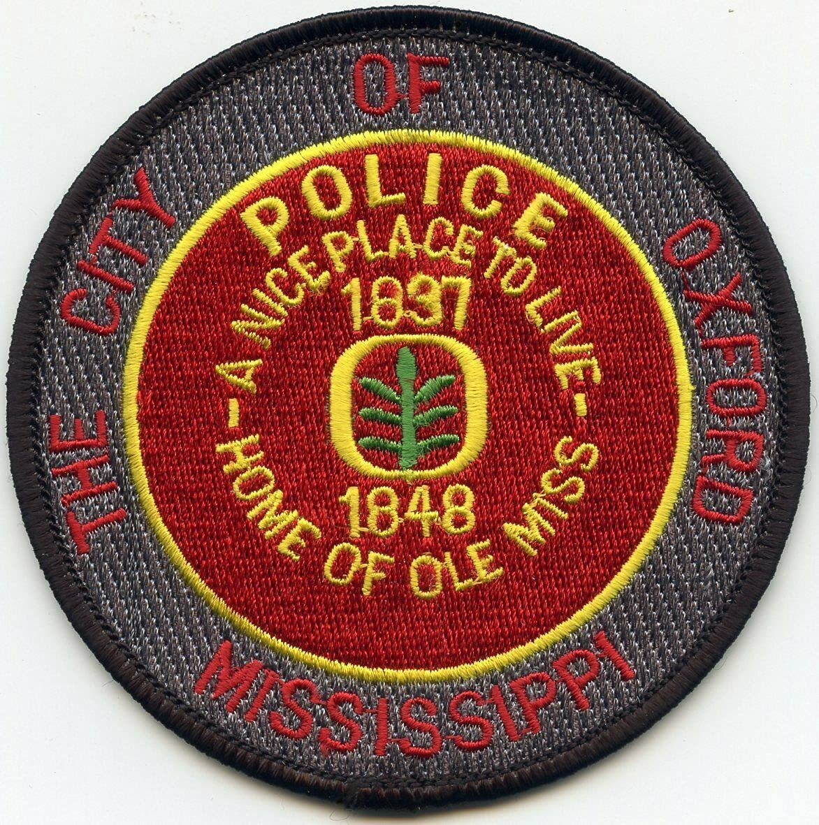 by SFI Max 83% OFF Oxford Mississippi MS Home Max 85% OFF Police Patch Miss of Ole