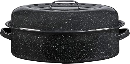 product image for Granite Ware 15-Inch Covered Oval Roaster, 15 inches, Black